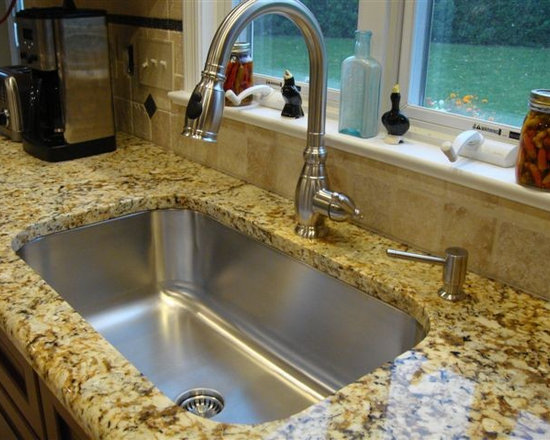 Seamless Sink in granite kitchen setting large single bowl - Create Good's new Seamless Sink brings a simplicity to the kitchen that is refreshing