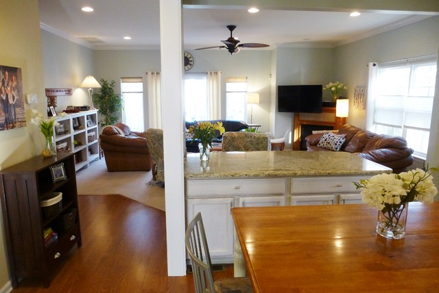 Create Open Floorplan By Removing A Load Bearing Wall Craftsman Kitchen Baltimore By Kade Construction Inc Houzz Au