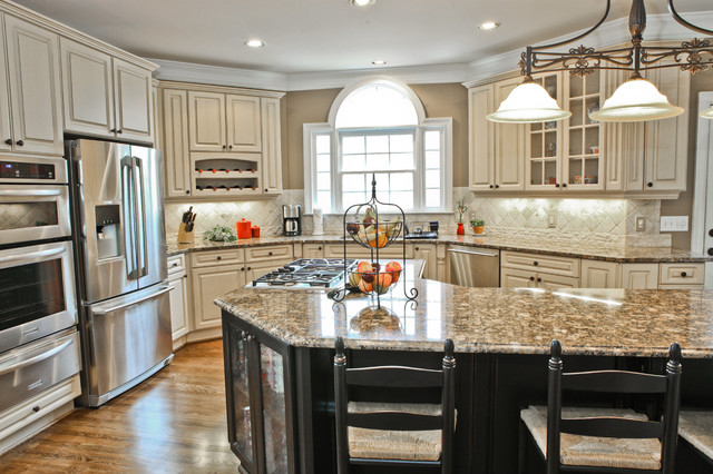 Inspiration for a timeless kitchen remodel in Atlanta - Antique White Cabinets Houzz