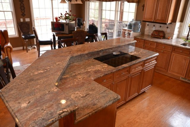 Crema Bordeaux Granite Kitchen - Transitional - Kitchen ...