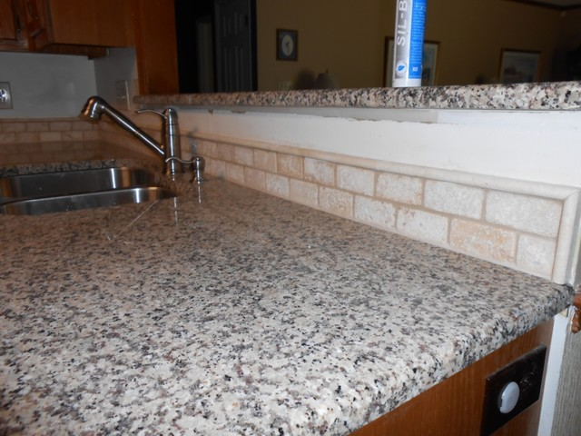 Creme Caramel Granite Traditional Kitchen Charlotte