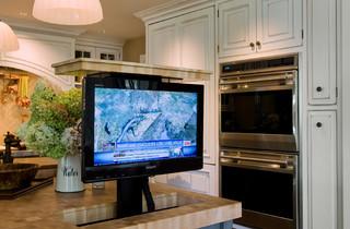 Hidden tv pop up tv - Donde colocar tv en cocina ...