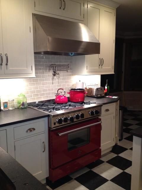 Crisp White Victorian traditional-kitchen