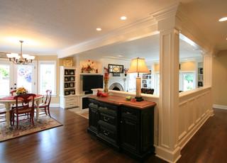 fascinating half idea wall kitchen design | Croisan Scenic Remodel - Traditional - Kitchen - portland ...
