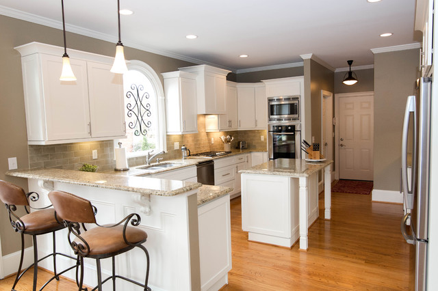 Crooked Creek Kitchen goes Shaker style! - Transitional - Kitchen - atlanta - by Creative ...