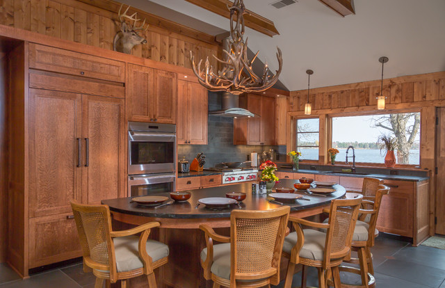 Cross lake cabin rustic kitchen minneapolis by for Rustic lake house kitchens