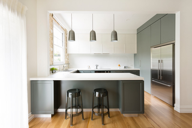 Croydon House Transitional Kitchen Melbourne By Meredith Lee