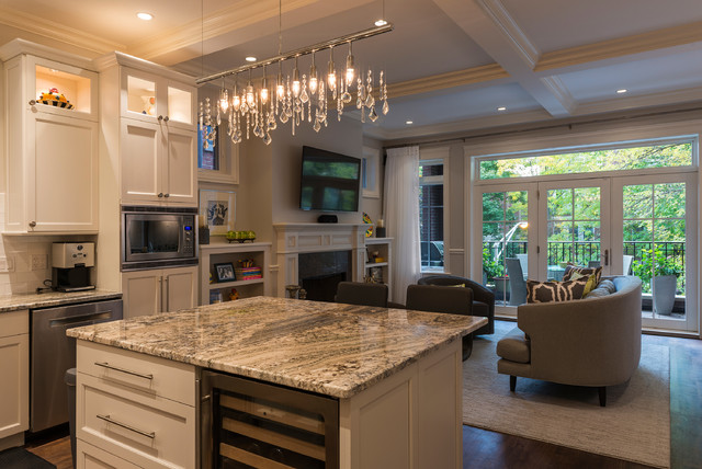 Wonderful Crystal Linear Suspension By Nuevo Living Transitional Kitchen