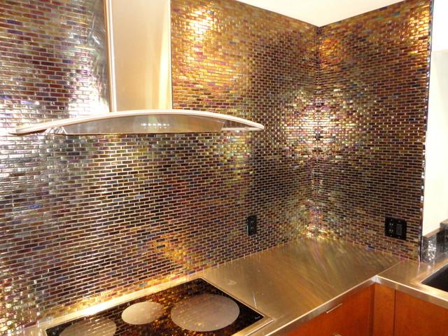 Backlit Glass Kitchen Backsplash