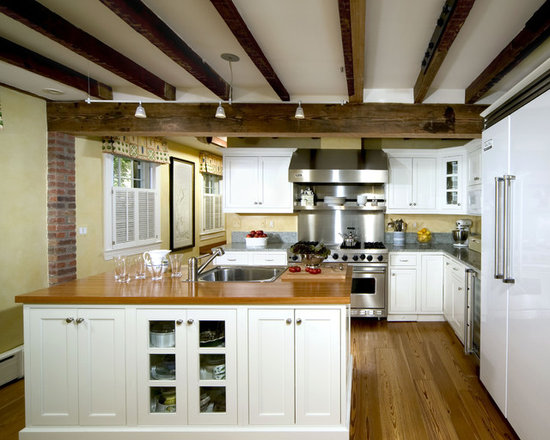 Low ceiling with beams home design ideas pictures for Low ceiling kitchen