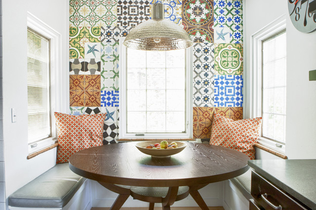 Cuban breakfast nook eclectic kitchen denver by for Dining room tile designs