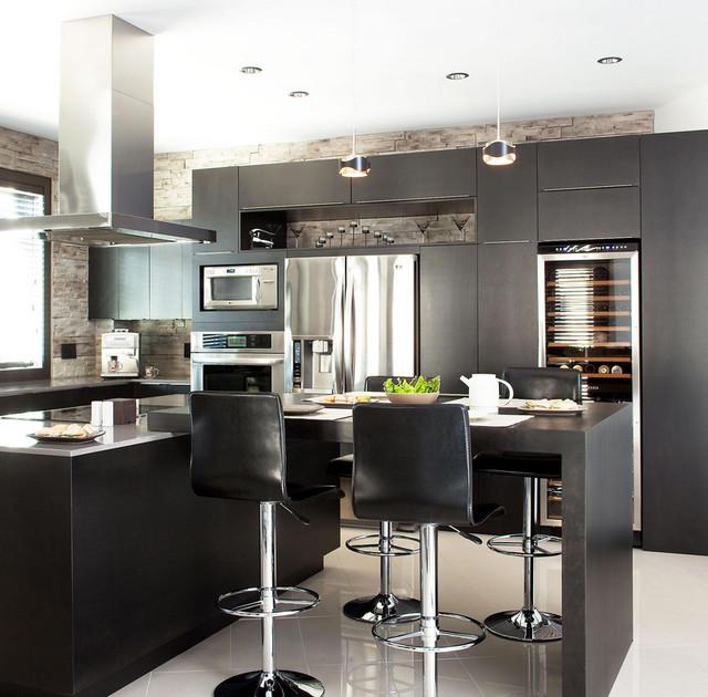 Cuisine contemporaine contemporary kitchen for Cuisine contemporaine