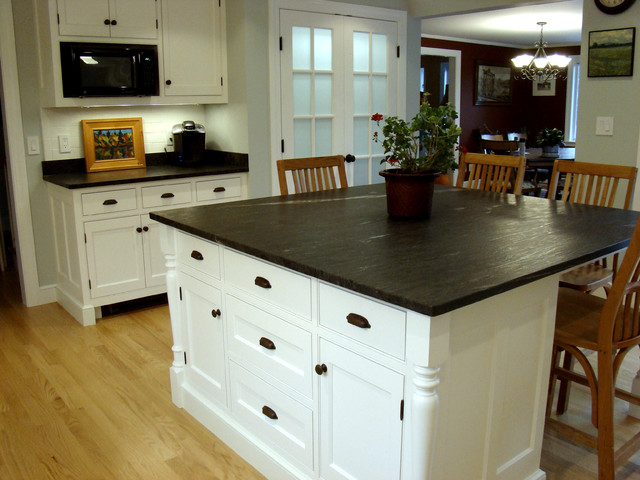Cost Of Black Granite Countertops : Cumberland Foreside Kitchen - Traditional - Kitchen - Portland Maine ...