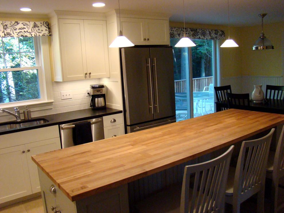 Cumberland Maine Kitchen - Contemporary - Kitchen ...