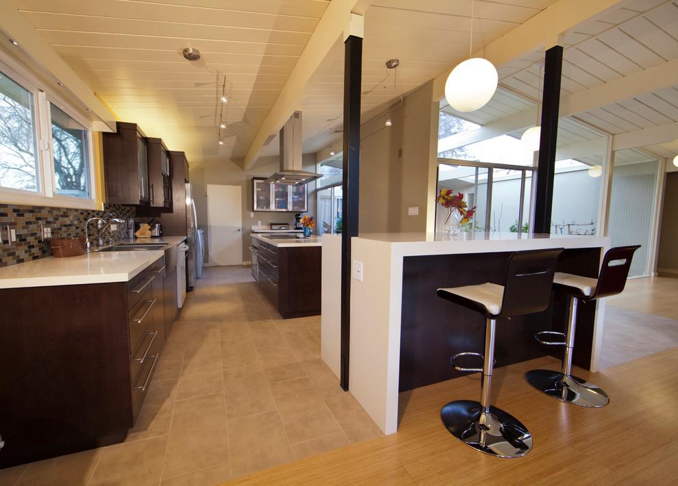 Cupertino   Eichler Kitchen & Exterior Paint