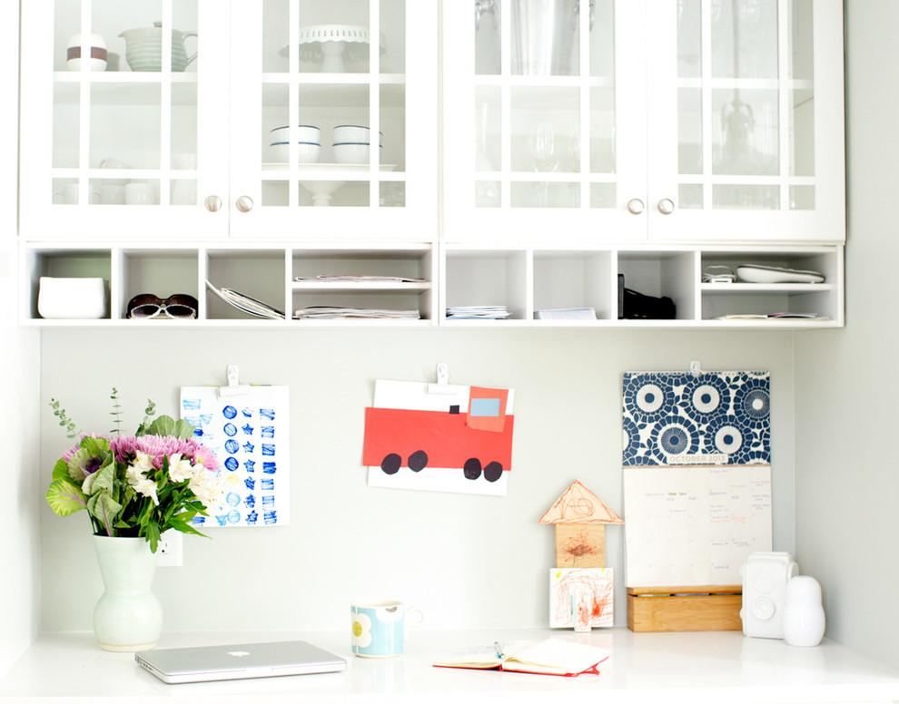 Kitchen - contemporary kitchen idea in Minneapolis with white cabinets