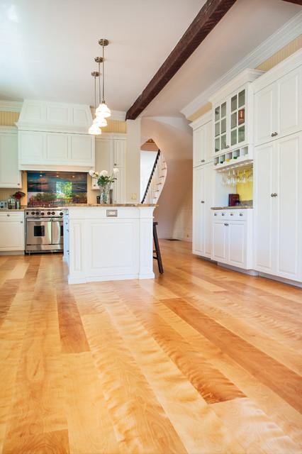 Curly birch plank floors newburyport massachusetts for Victorian kitchen floors
