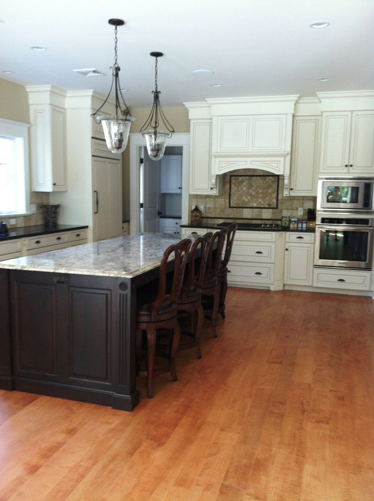 Curly Maple Wood Flooring - Traditional - Kitchen - Boston ...
