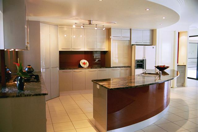 curved island bench kitchen