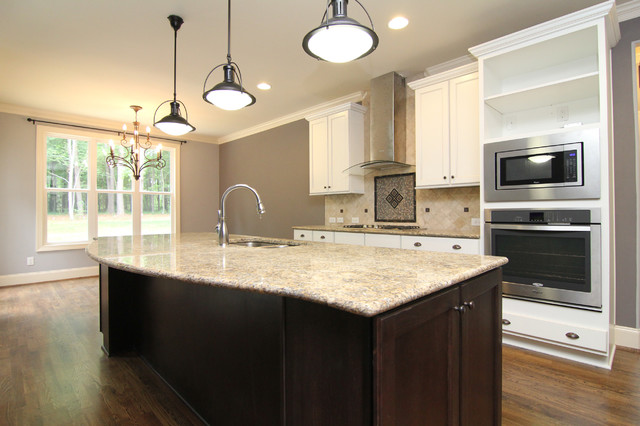 Curved island front - Transitional - Kitchen - Raleigh - by ...