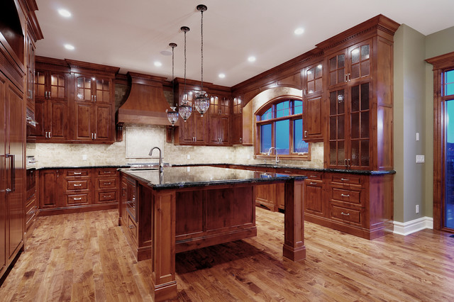 Custom alder kitchen traditional kitchen