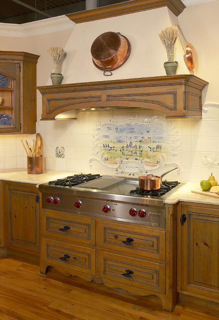Custom Antique Pine Mantel Traditional Kitchen New