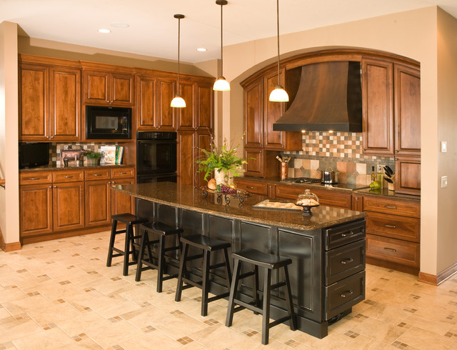 Custom Arch Cabinets American Traditional Kitchen Minneapolis By Cherry Creek Inc