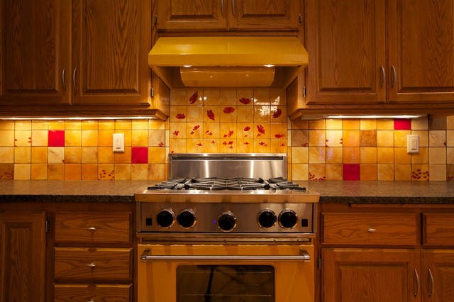 Custom backsplash eclectic kitchen minneapolis by bonton tile - Custom kitchen backsplash tiles ...
