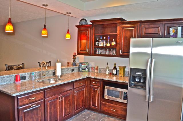 Custom Basement Bar traditional-kitchen