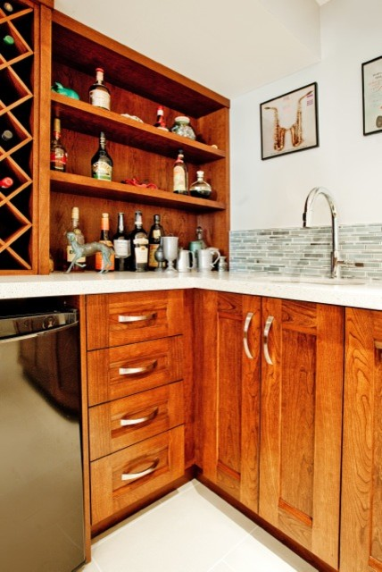 Custom basement renovation barrie contemporary kitchen for Kitchen cabinets barrie