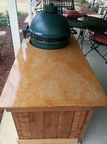 Custom Big Green Egg Tables kitchen