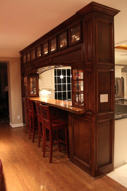 Custom Built Bar and Kitchen Remodel traditional-kitchen