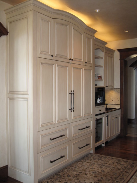 Custom built in refrigerator traditional-kitchen