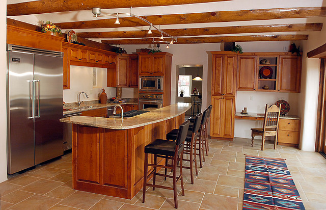 Southwest Kitchen Designs Carmel Southwest Knotty Cherry Kitchen Southwestern Kitchen With