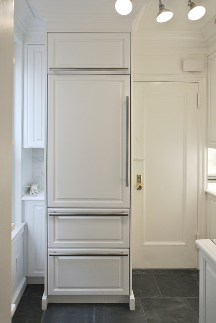 Custom Cabinet For Refrigerator Traditional Kitchen