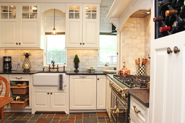 elegant kitchen photo in new york - How To Reface Kitchen Cabinets