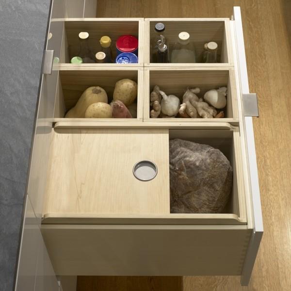 Custom Cabinet with Sliding Bread Drawer modern-kitchen