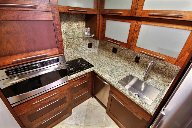 custom cabinetry granite and stainless steel appliances