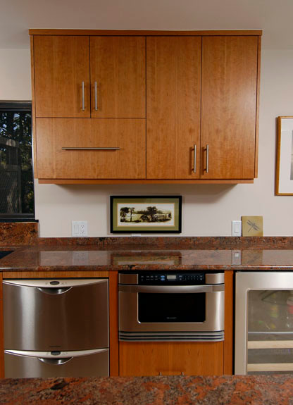 Custom Cabinetry - Vertical Grain Cherry Cabinets