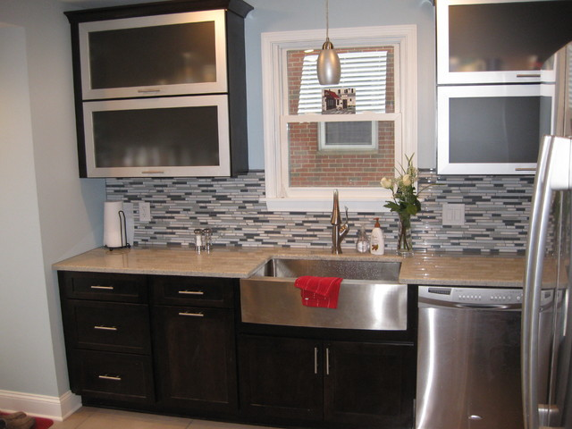 Custom cabinets tile work contemporary kitchen for 10 west salon chagrin falls