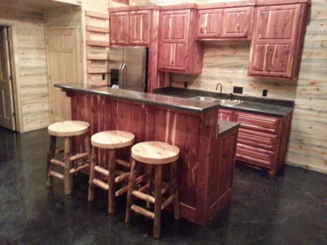 Custom Cabinets Rustic Kitchen Oklahoma City By Tillison Cabinet Comp
