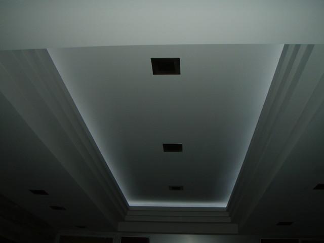 Custom Ceiling Details Plus Led Cove Lighting Contemporary