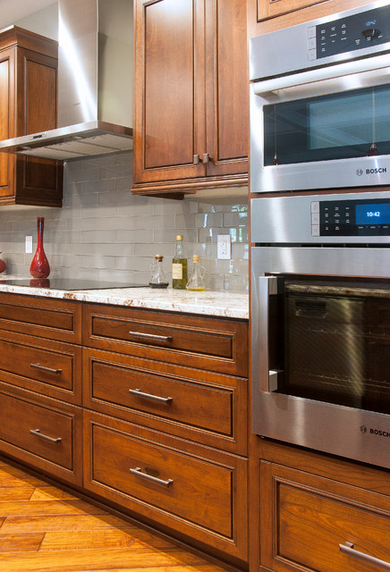 custom cherry cabinetry contemporary kitchen other