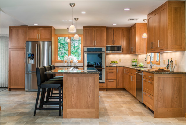 Custom Cherry Kitchen - Contemporary - Kitchen - Other - by ...