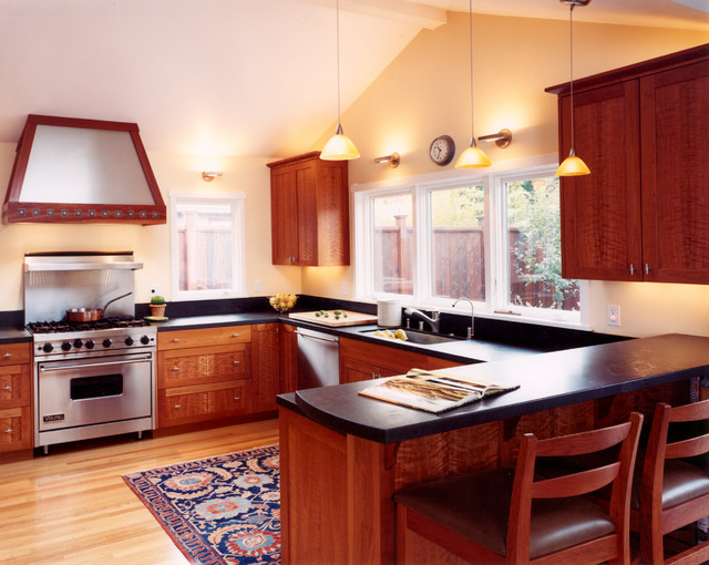 Custom cherry wood cabinets for Cherry wood kitchen cabinets