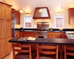 Custom Cherry Wood Cabinets traditional-kitchen