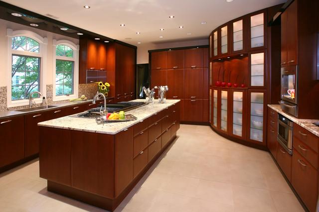 Custom contemporary kitchen contemporary kitchen for Houzz contemporary kitchens