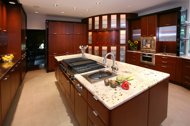 Custom Contemporary Kitchen - Contemporary - Kitchen ...