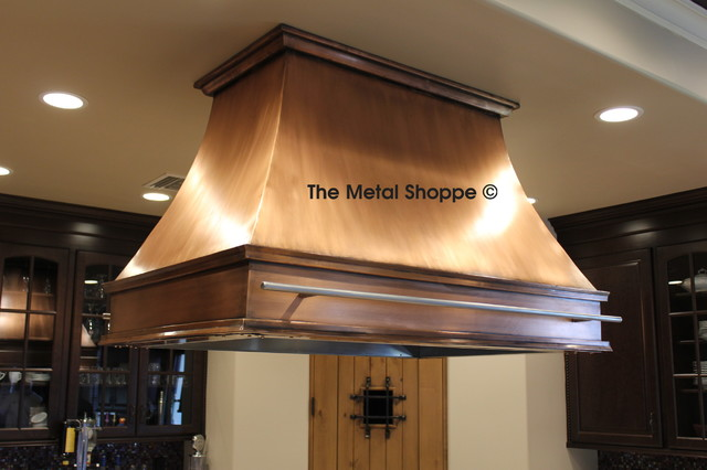 Custom Copper Island Kitchen Hood  Kitchen  los angeles  by The