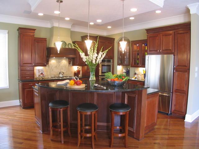 custom designed aristokraft kitchen - traditional - kitchen